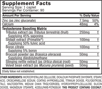 MuscleTech TEST HD Supplement Facts
