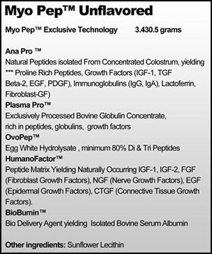 MYO-PEP SuppFacts