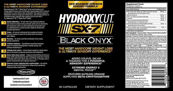 Hydroxycut Sx 7 Black Onyx By Muscletech 69 Free Sh