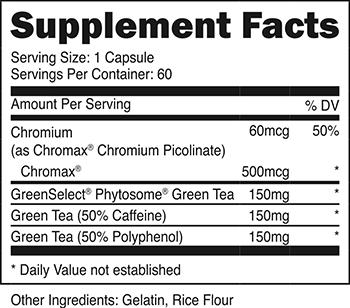 Green Tea SuppFacts