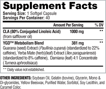 iSatori CLA Supplement Facts