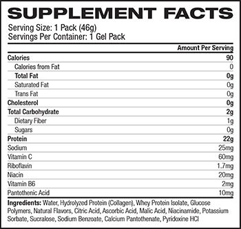 MusclePharm Hybrid Series MuscleGel Supplement Facts