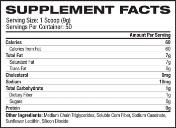 MCT Oil Powder SuppFacts
