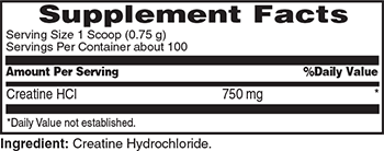 Met-Rx Quik Creatine Powder Supplement Facts