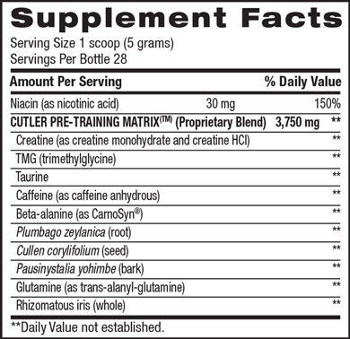 Cutler Nutrition Legend