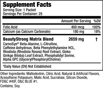 BeautyFit BeautyStrong Supplement Facts
