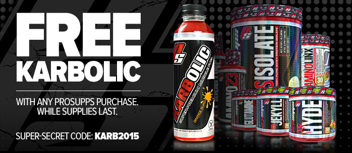 FREE Karbolic with any purchase of ProSupps products listed below.