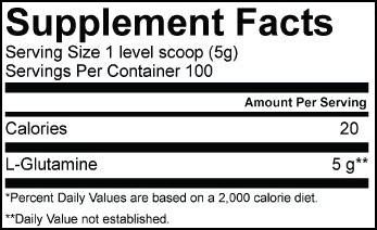 L-Glutamine SuppFacts