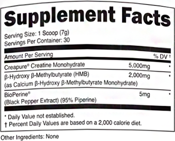 Transparent Labs PreSeries Creatine HMB Facts