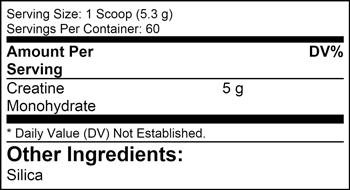 Creatine Monohydrate SuppFacts