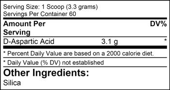 D-Aspartic Acid SuppFacts