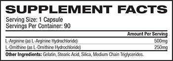 TwinLab L-Arginine & L-Ornithine Supplement Facts