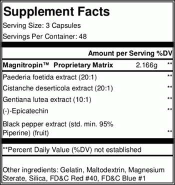 Myokem Magnitropin Supplement Facts