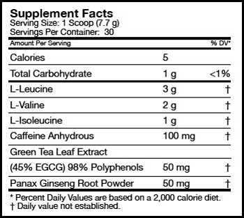 BCAA 3:1:2 Energy SuppFacts
