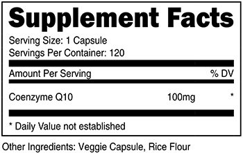 Nutricost CoQ10 Supplement Facts