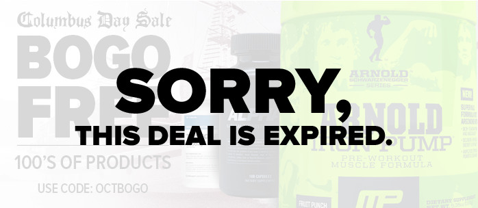 Columbus Day Sale! BOGO Free On NEARLY 100 Supplements!