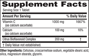 Twinlab Gentle-C 1000 Supplement Facts