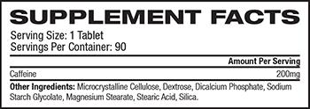 PrimaForce Caffeine Supplement Facts