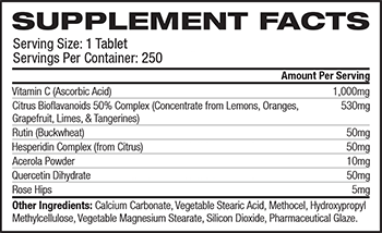 Vitalabs C-1000 Complex Supplement Facts