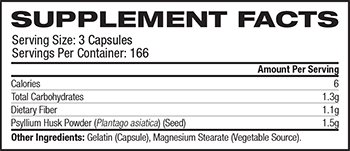 NOW Psyllium Husk Supplement Facts