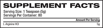 AllMax Nutrition Arginine HCl Supplement Facts