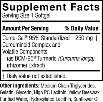 Genceutic Naturals Curcumin BCM-95 Supplement Facts