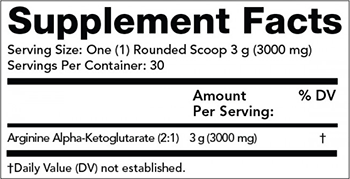 Olympian Labs A-AKG Powder Supplement Facts