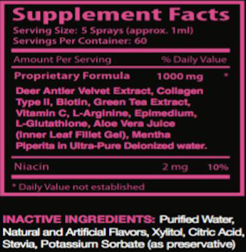 Hers Anti-Aging Spray SuppFacts