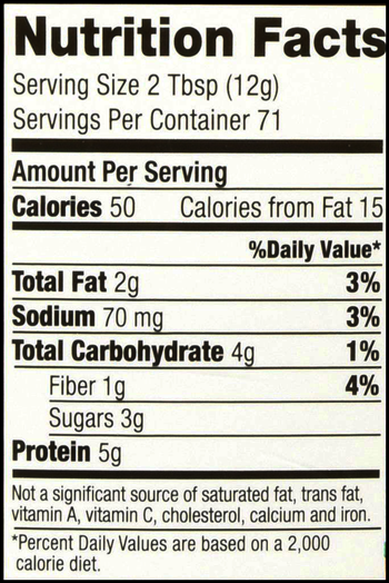 PB Fit Powder SuppFacts