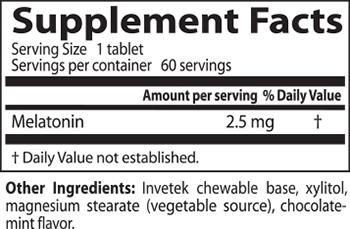 Doctor's Best Quick Melt Melatonin Supplement Facts