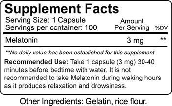 Nutrakey Melatonin Supplement Facts