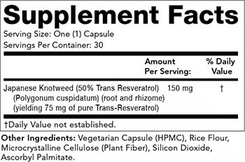 Olympian Labs Clinical Resveratrol Supplement Facts