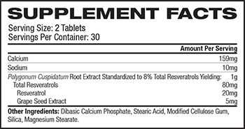 Source Naturals Resveratrol Supplement Facts