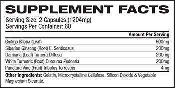 PhiNaturals Feminex Supplement Facts