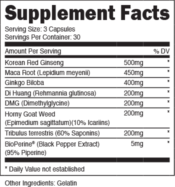 Zygasm Supplement Facts