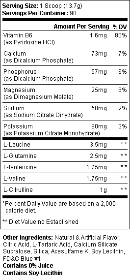 HydroBCAA SuppFacts