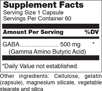 Douglas Laboratories GABA Supplement Facts
