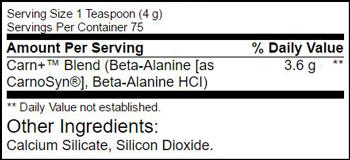 Beta-Alanine SuppFacts