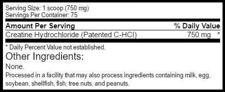 C-HCL Powder SuppFacts