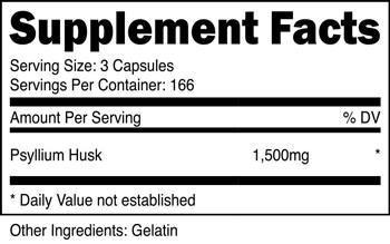Psyllium Husk Capsules SuppFacts