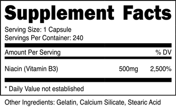 Niacin Capsules SuppFacts