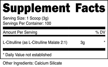L-Citrulline Malate Powder SuppFacts