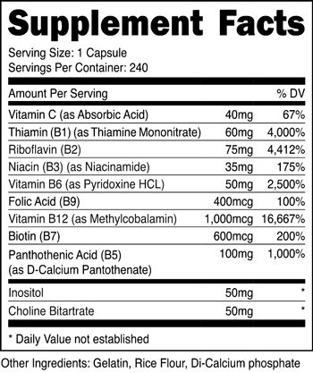 Vitamin B Complex SuppFacts