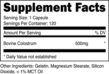 Colostrum SuppFacts