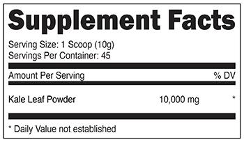 Kale Powder SuppFacts