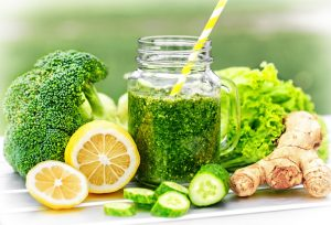 Detox, green smoothie. Fresh Detox Juices.