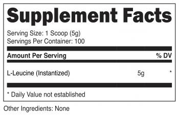 L-Leucine Powder SuppFacts