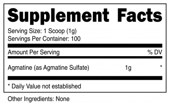 Agmatine Sulfate Powder SuppFacts