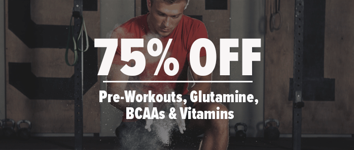 75% Off Select Pre-Workouts