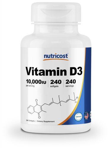NC Vitamin D3 10,000 IU Bottle